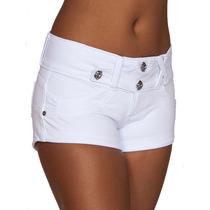 Shortinho Branco Feminino Da Obsessão Moletinho + Cores 245