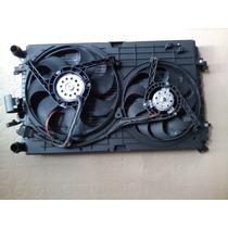 Kit Conjunto Radiador Condensador Ventoinha Vw Golf Audi A3