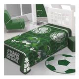 Cobertor Jolitex Ternille Manta Soft Solteiro Palmeiras Campeão