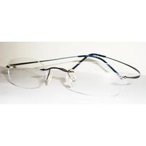 Linda Armação Óculos Grau Titanium Flexivel Grafite Memory