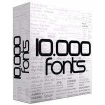 Pack 10.000 Fonts Para Corel Photoshop Ilustrator Windows