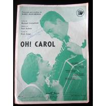 Partitura Antiga Música Oh Carol Acordeon
