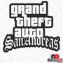 Adesivo Gamer Gta Sa Grand Theft Auto San Andreas Pc Noteboo