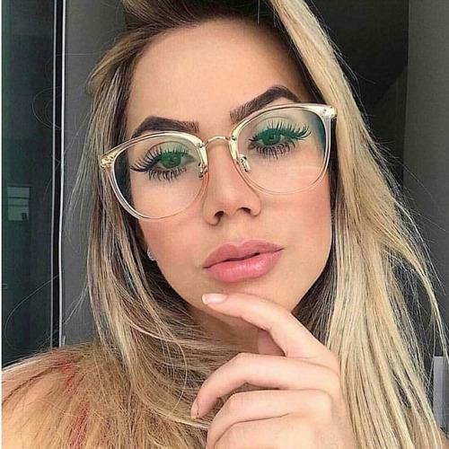 7a90972be0203 Óculos Masculino Retro Sem Grau Lente Transparente Vintage