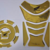 Protetor Tanque Relevo Tankpad + Bocal Moto Honda Cbr 450 Sr