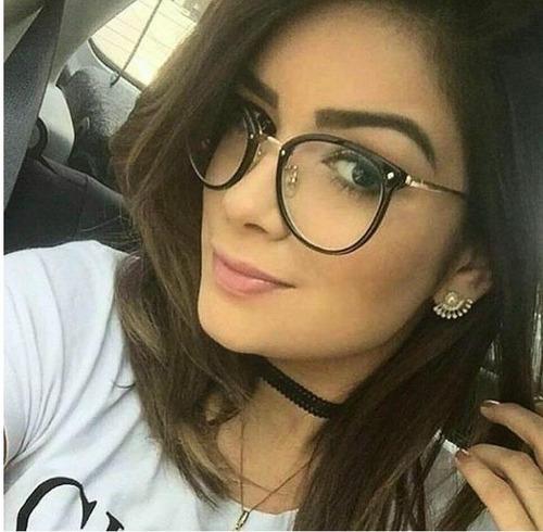 656f8b3ca Armação Para Grau Feminino Oculos Barato Moda Gato Promoção