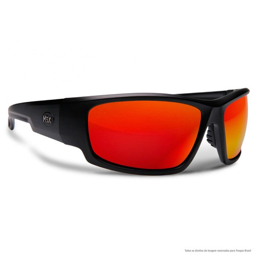 Óculos De Sol Polarizado Black Monster 3x Lente Vermelha b107f3ab94