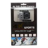 Ultra Câmera Action Go Pro 4k Sport Wifi Prova Dágua Prata