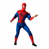 Fantasia Spider Man Homem Aranha Adulto Luxo Máscara Degorro