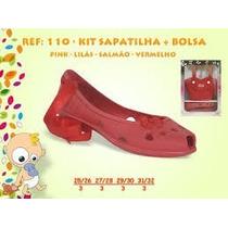 Sapato Infantil Yuupiii Kit Sapatilha + Bolsa Babuche Crocs