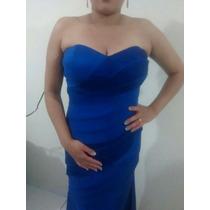 Vestido De Formatura Madrinha Aniversário Azul Royal