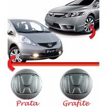 Calota Tampa Centro Roda Honda Fit City New Civic Prata