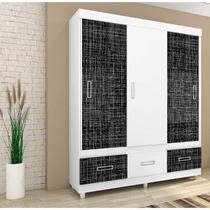 Guarda-roupa Mônaco Plus Com 3 Portas Branco - Araplac