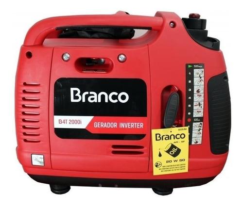 Gerador Portátil Branco B4t-2000 I 2000w Monofásico Com Tecnologia Inverter 220v