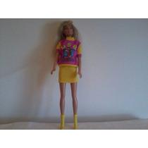 Roupa Para Barbie(blusa Fred Flinstone E Saia)boneca Grátis
