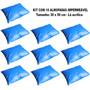Kit Com 10 Almofadas Travesseiro Impermeável 30 X 50 Cm Napa