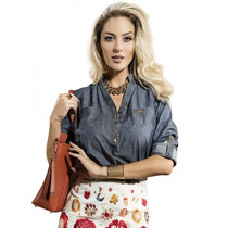 Blusa Jeans Feminina Principessa Brena