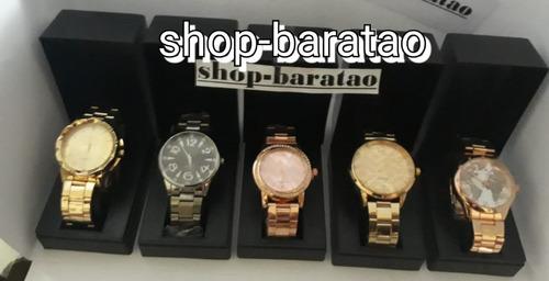 2c4c127ca6b Kit Com 10 Relógios Feminino+caixa Preta Atacado Exclusivo