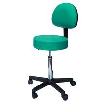 Cadeira Mocho Massagem Clínica Consultório Estética Verde