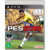 Pro Evolution Soccer 2018 - Pes 18 - Ps3 - Novo - Física