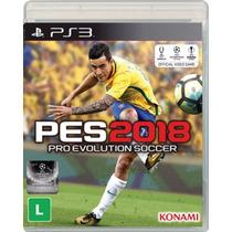 Pro Evolution Soccer 2018 - Pes 18 - Ps3 - Novo - Física