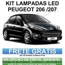 Kit Lampadas Led Peugeot 206 / 207 - Promoção Anx Leds