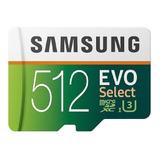 Cartão De Memória Samsung Mb-me512ga/am Evo Select 512gb