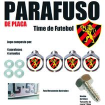 Parafuso Placa Logotipo Resinado Time Kit 4 Pçs Sport Recife