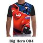 Camisa Camiseta Básica Big Hero Disney 004