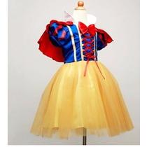 Vestido Fantasia Princesa Branca De Neve Pronta Entrega