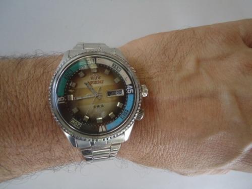 418e18f1790 Relógio Orient Kd Automático Antigo Degrade Perfeito