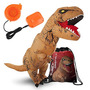 Traje Dinossauro Adulto T Inflável - Terno Rex Marrom Com S