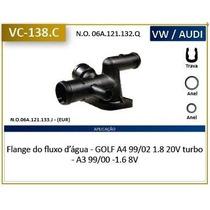 Flange Fluxo Agua Mangueira Radiador A3 / Golf / A4