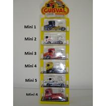 Miniatura Caminhão Fórmula Truck - Guisval 1/64 (seis Minis)