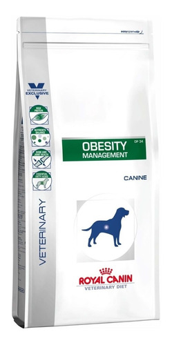 Ração Royal Canin Obesity Management (dp 34) Veterinary Diet Canine Cachorro Adulto Todos Os Tamanhos Mix 1.5kg
