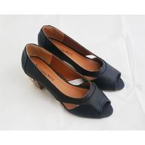 Sapato Peep Toe Salto Bonito E Confortável Promoção
