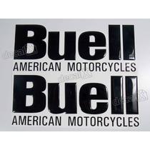 Adesivos Buell American Motocycles Resinado Preto 20,2x8 Cms