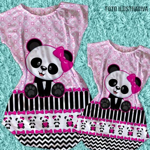 7c86c013e06912 Kit Vestido Tal Mãe Tal Filha Panda, Festa Panda à venda em ...