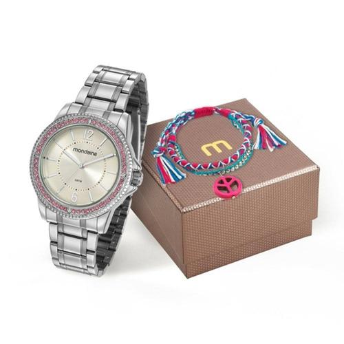54da06f2094 Kit Relógio Mondaine Com Pulseira Croxê Rippie - Loja. R  165
