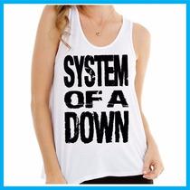 Regata Feminina System Of A Down, Rock, Banda, Música, Pers
