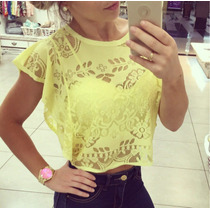 Cropped Renda Com Top Perfect Way