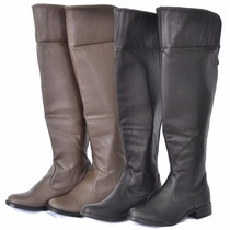 Bota Montaria Over The Knee Feminina+ Vestidos Femininos