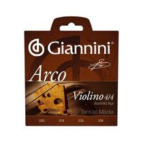 Encordoamento Para Violino Giannini Geavva Aço