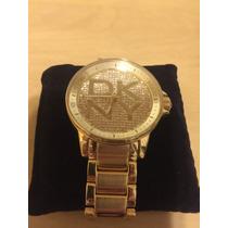 Relógio Feminino Dkny Folhado A Ouro