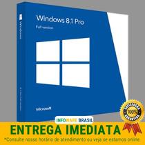 Windows 8.1 Pro Chave Key Serial Licença Original Fpp ®