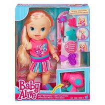 Boneca Baby Alive Cabelos Fashion Loira Hasbro