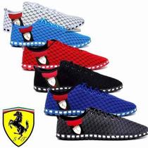 Sapatilha Masculina Ferrari 100% Original Na Caixa Oferta