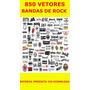 850 Vetores De Bandas De Rock - Imagens Impressão Corel Draw