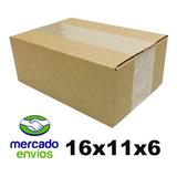 100 Caixas De Papelão Mercado Envios - Correios 16x11x6