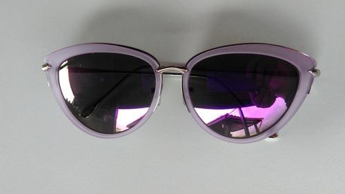 09573e5cc728d Óculos De Sol Feminino Gatinho Espelhado Com Proteção Uv400